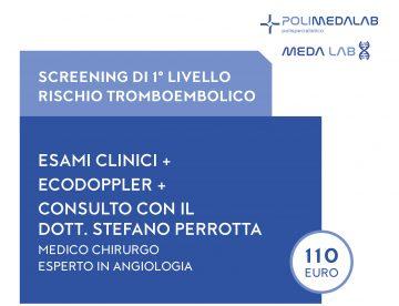 screening primo livello rischio tromboembolico